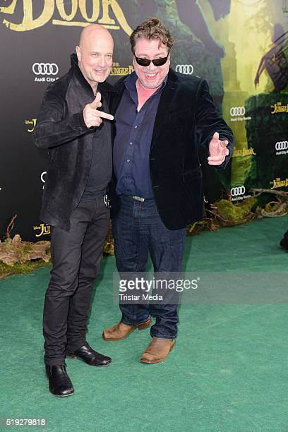 Christian Berkel and Armin Rohde attend the 'The Jungle Book' German Premiere on April 05 2016 in Berlin Germany