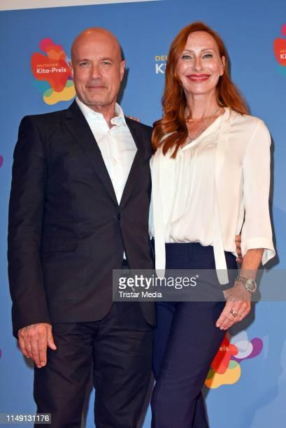 Christian Berkel and his wife Andrea Sawatzki attend the German Kita Prize 2019 at Tempodrom on May 13, 2019 in Berlin, Germany.