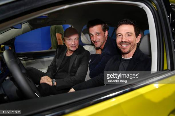 Christian Berkel Max von Thun and Oliver Berben during the world premiere of the new Volkswagen Golf 8 on October 24 2019 in Wolfsburg Germany