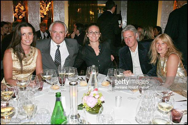Christian Bimes and wife Caroline Marie Pierce Bjorn Borg and wife Patricia at Diner Des Champions Celebrating 80 Years Of The Roland Garros At...