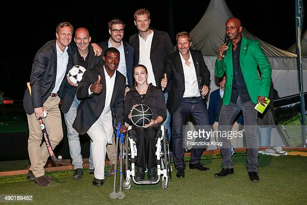 Christian Blunck, Stefan Schnoor, Manuel de los Santos, Eric Johannesen, Edina Mueller, Steffen Deibler, Peter Merck and Yared Dibaba attend the Golf...