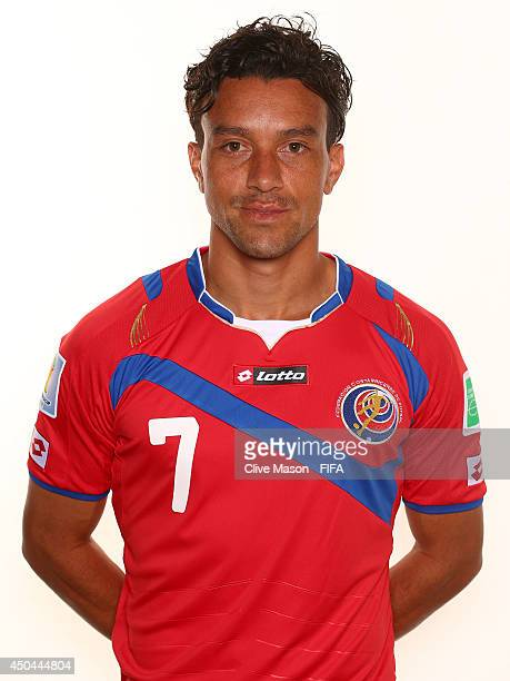 Christian Bolanos of Costa Rica poses during the official FIFA World Cup 2014 portrait session on June 10 2014 in Sao Paulo Brazil