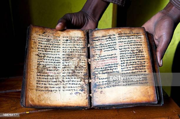 Christian book in Lake Tana, Ethiopia
