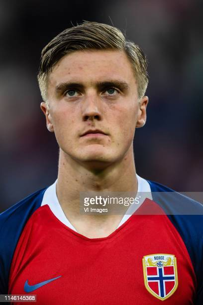 Christian Borchgrevink of Norway U20 during the FIFA U20 World Cup Poland 2019 group C match between Uruguay U20 v Norway U20 at Lodz Stadium on May...