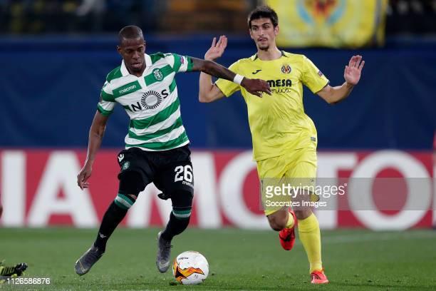 Christian Borja Sporting Clube de Portugal Gerard Moreno of Villarreal during the UEFA Europa League match between Villarreal v Sporting Lissabon at...