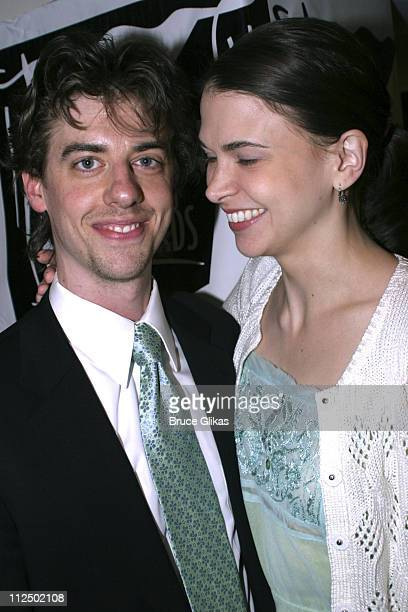 Christian Borle and Sutton Foster during 50th Annual Drama Desk Awards Nominations Cocktail Party at Arte Cafe in New York City New York United States