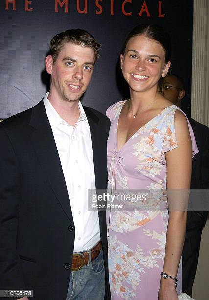 Christian Borle and Sutton Foster during 'Dracula The Musical' Opening Night at The Belasco Theatre in New York City New York United States