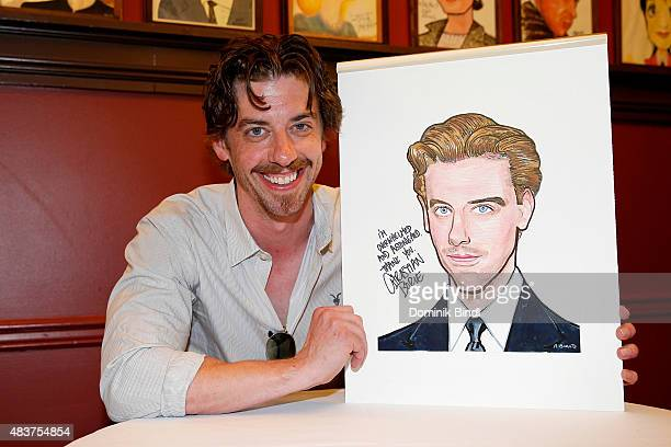 Christian Borle attends his Sardi's portrait unveiling at Sardi's on August 12 2015 in New York City