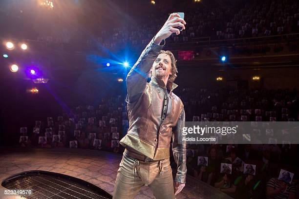 Christian Borle performs at Broadway's 'Something Rotten' celebration during the 400th Anniversary of Shakespeare's death at St James Theatre on...