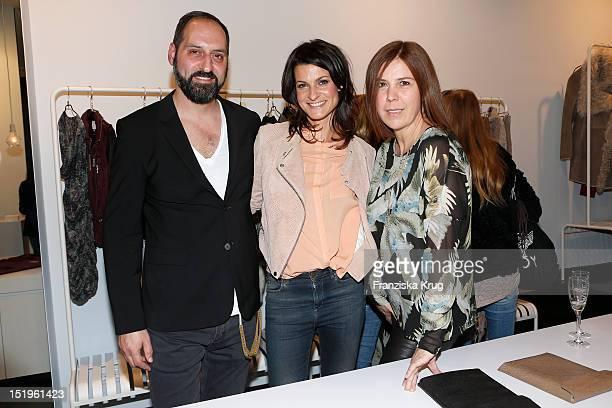 Christian Brennenstuhl Marlene Lufen and Iris Jorde attend the opening of the 'Amorph' store on September 13 2012 in Berlin Germany