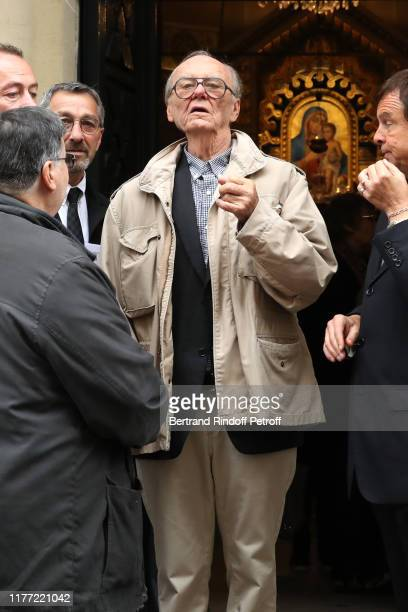 Christian Brincourt attends the actor Charles Gerard's Funerals at SaintJeanBaptiste Armenian Apostolic Cathedral in Paris on September 26 2019 in...