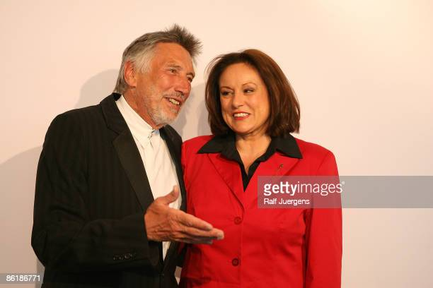 Christian Brueckner and Monika Piel attend the 'WDR Treff' on April 23, 2009 in Cologne, Germany.