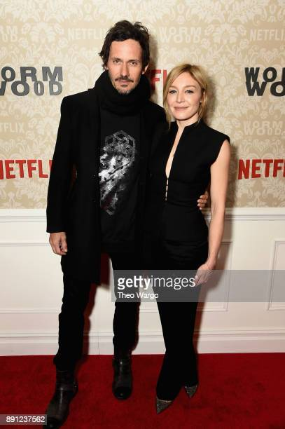 Christian Camargo and Juliet Rylance attend the 'Wormwood' New York Premiere on December 12 2017 in New York City
