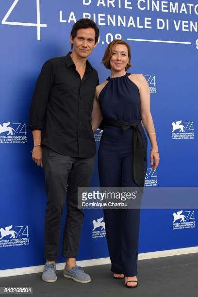 Christian Camargo and Molly Parker attend the 'Wormwood' photocall during the 74th Venice Film Festival at Sala Casino on September 6 2017 in Venice...