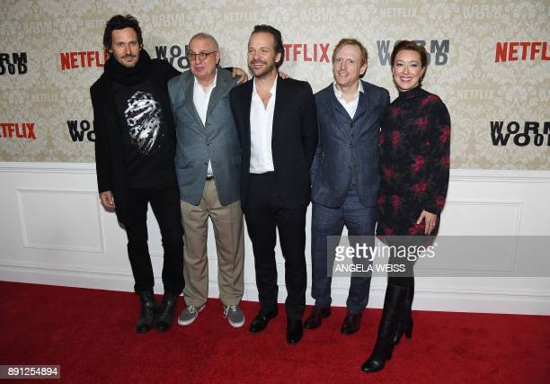 Christian Camargo Errol Morris Peter Sarsgaard Scott Shepherd and Molly Parker attend the New York Premiere of 'Wormwood' hosted by Netflix at The...