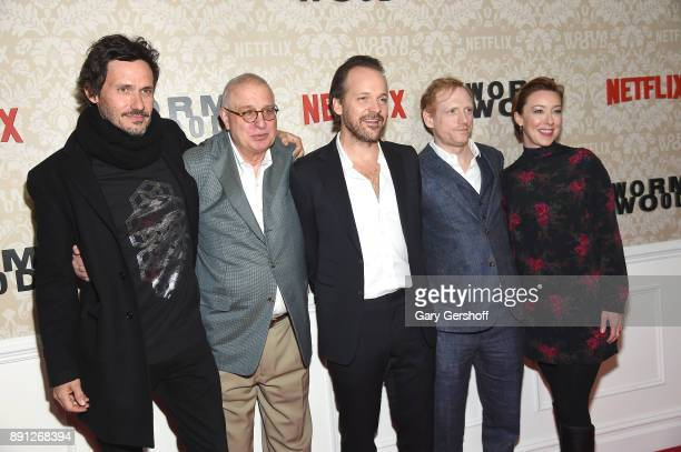 Christian Camargo Errol Morris Peter Sarsgaard Scott Shepherd and Molly Parker attend the 'Wormwood' New York premiere on December 12 2017 in New...