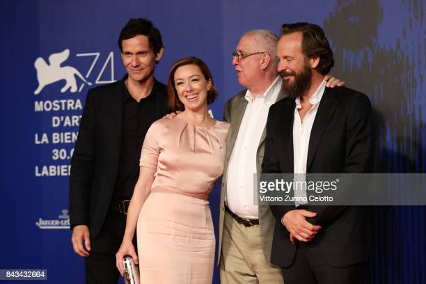 Christian Camargo Molly Parker Errol Morris and Peter Sarsgaard walk the red carpet ahead of the 'Wormwood' screening during the 74th Venice Film...