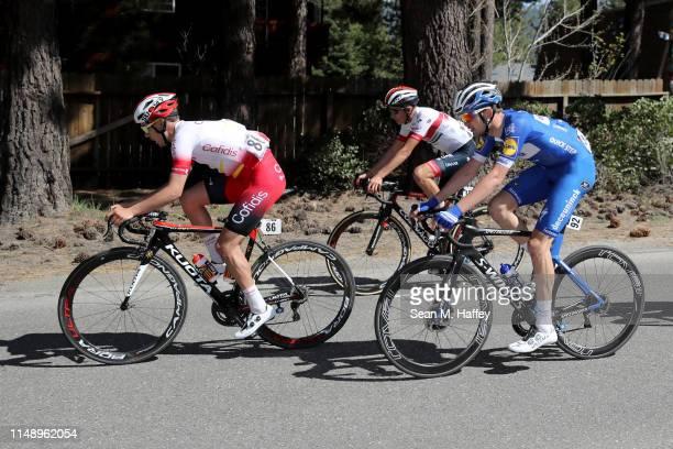 Christian Camilo Munoz Lanceros of Colombia and UAE - Team Emirates / Kasper Asgreen of Denmark and Team Deceuninck - Quick-Step / Mathias Le Turnier...