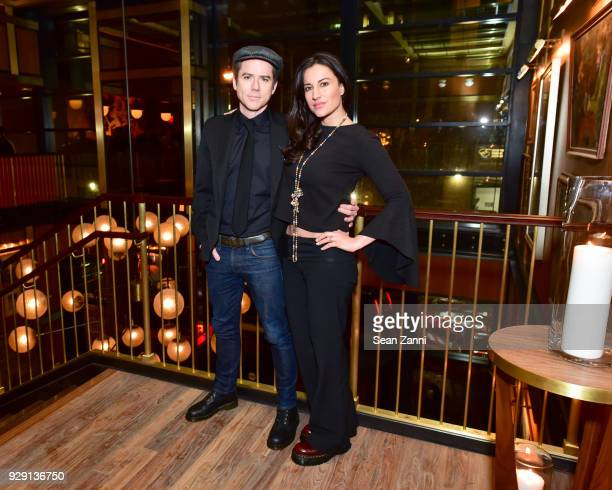 Christian Campbell and America Olivo attend the after party for 'Rise' hosted by NBC The Cinema Society at Legacy Records on March 7 2018 in New York...