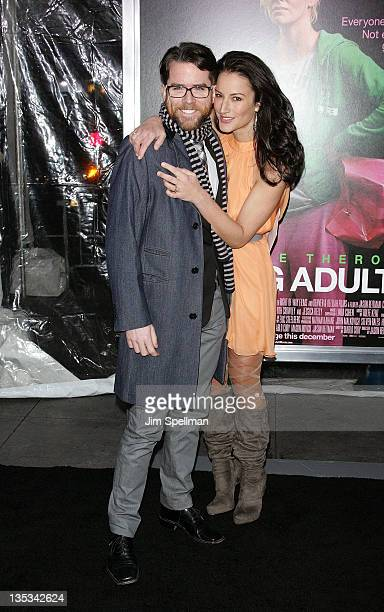 Christian Campbell and America Olivo attend the 'Young Adult' world premiere at the Ziegfeld Theatre on December 8 2011 in New York City