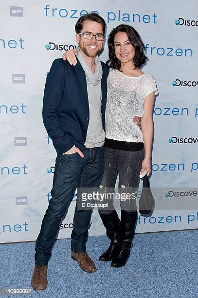 """Christian Campbell and wife America Olivo attend the """"Frozen Planet"""" premiere at Alice Tully Hall, Lincoln Center on March 8, 2012 in New York City."""