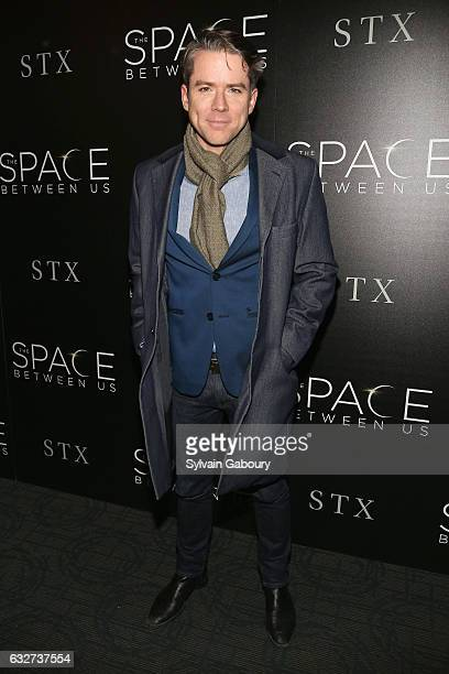"""Christian Campbell attends STX Entertainment with The Cinema Society Host a Screening of """"The Space Between Us"""" on January 25, 2017 in New York City."""