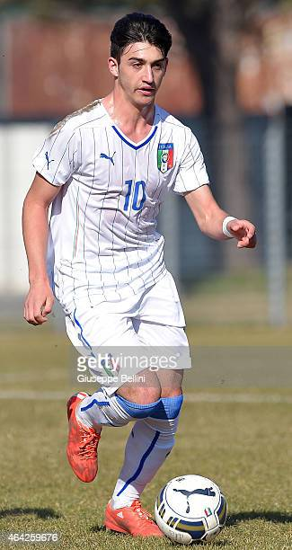 Christian Capone of Italy in action during the international friendly match between Italy U16 and Croatia U16 on February 19 2015 in Monfalcone Italy