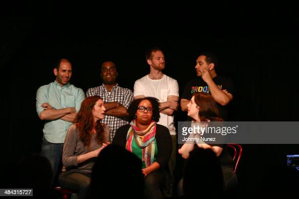 Christian Capozzoli Shaun Diston Brandon Gardner and Cipha Sounds Natasha Rothwell Lydia Hensler and Abra Tabak attend Take It Personal Featuring...