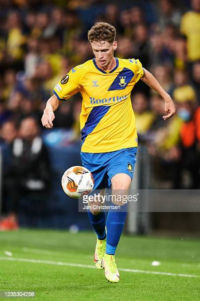 Christian Cappis of Brondby IF in action during the UEFA Europa League match between Brondby IF and AC Sparta Praha at Brondby Stadion on September...
