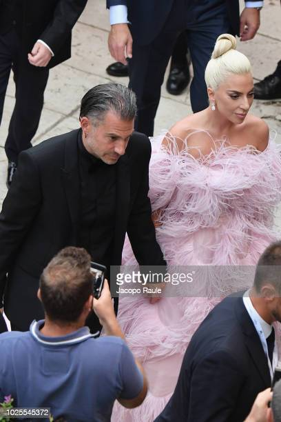 Christian Carino and Lady Gaga are seen during the 75th Venice Film Festival on August 31 2018 in Venice Italy