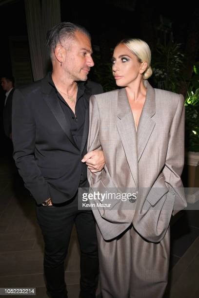 Christian Carino and Lady Gaga attend ELLE's 25th Annual Women In Hollywood Celebration presented by L'Oreal Paris Hearts On Fire and CALVIN KLEIN at...
