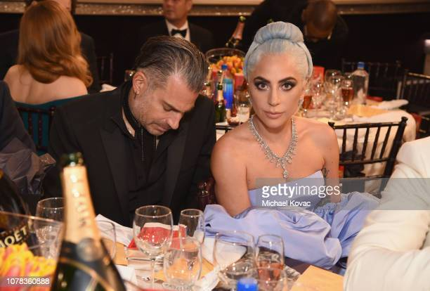 Christian Carino and Lady Gaga attend Moet Chandon at The 76th Annual Golden Globe Awards at The Beverly Hilton Hotel on January 6 2019 in Beverly...