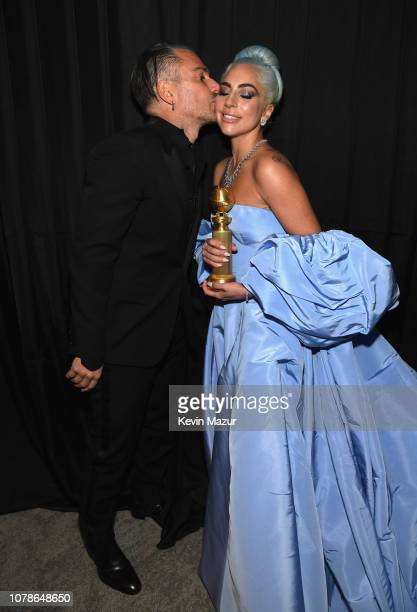Christian Carino and Lady Gaga attends the 2019 InStyle and Warner Bros 76th Annual Golden Globe Awards PostParty at The Beverly Hilton Hotel on...