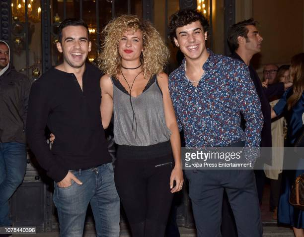 Christian Casas Sheila Casas and Oscar Casas attend the Blanca Suarez's 30th birthday party on October 27 2018 in Madrid Spain
