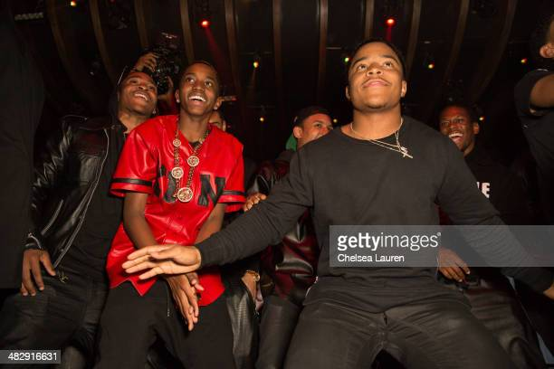 Christian Casey Combs and Justin Dior Combs attend Christian Casey Combs' 16th birthday party at 1OAK on April 4 2014 in West Hollywood California