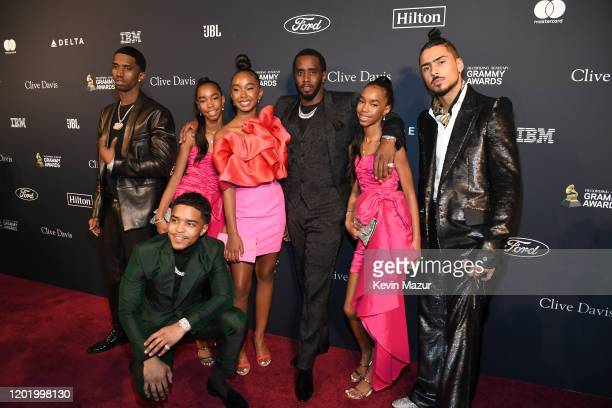 Christian Casey Combs Jessie James Combs Justin Dior Combs Chance Combs Sean Diddy Combs D'Lila Star Combs and Quincy Taylor Brown attend the...