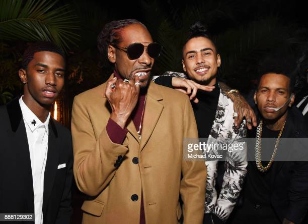 Christian Casey Combs Snoop Dogg Quincy Brown and Kid Ink attend the 2017 GQ Men of the Year Party at Chateau Marmont on December 7 2017 in Los...