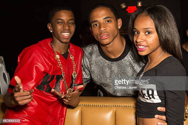 Christian Casey Combs Snoop Dogg's son Cordell Broadus and Floyd Mayweather's daughter Iyanna Mayweather attend Christian Casey Combs' 16th birthday...