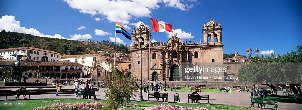 Christian cathedral, Cuzco (Cusco), UNESCO World Heritage Site, Peru, South America : Foto de stock