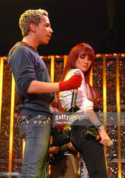 Christian Chavez and Dulce Maria of RBD during Z100's Jingle Ball 2006 Show at Madison Square Garden in New York City New York United States