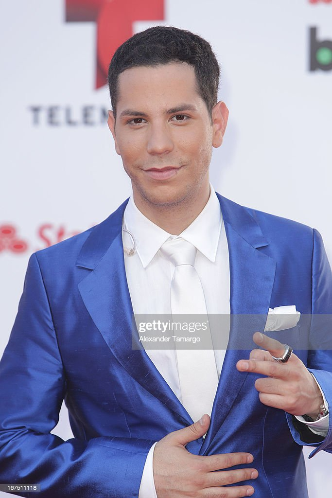Christian Chavez arrives at Billboard Latin Music Awards 2013 at Bank United Center on April 25, 2013 in Miami, Florida.