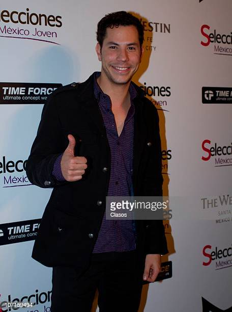 Christian Chavez poses for photographers during the delivery of a recognition prize of Selecciones Mexico Joven at Casa Lamm on November 25 2010 in...