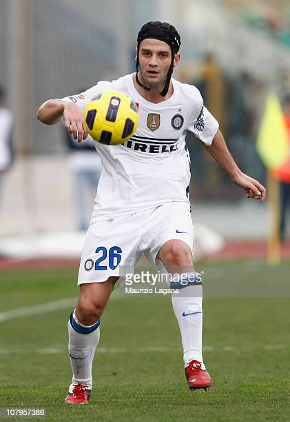 Christian Chivu of Inter in action during the Serie A match between Catania and Inter at Stadio Angelo Massimino on January 9, 2011 in Catania, Italy.