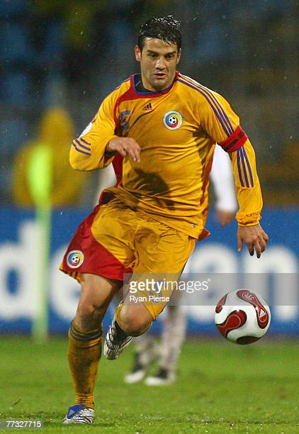 Christian Chivu of Romania in action during the Euro 2008 Group G qualifying match between Romania and The Netherlands at Farul Stadium on October...