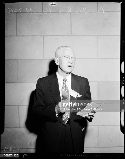 Christian Church Convention 23 July 1952 Mrs Ethel DeanMrs JJ WalkerDoctor Leland Cook JuniorDoctor James Parrott president of conventionDoctor...