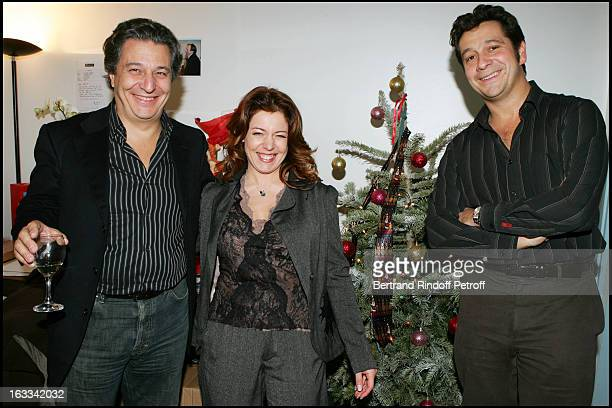 Christian Clavier Isabelle Boulay and Laurent Gerra at Le Triomphe De Laurent Gerra At Olympia In Paris