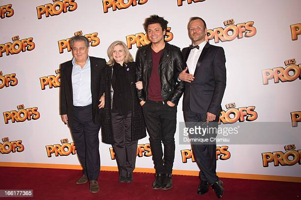 Christian Clavier Isabelle Nanty Kev Adams and PierreFrançois MartinLaval attend the 'Les Profs' Premiere at Le Grand Rex on April 9 2013 in Paris...
