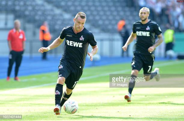 Christian Clemens of FC Koeln controls the ball during the DFB Cup first round match between BFC Dynamo and 1 FC Koeln at Olympiastadion on August 19...