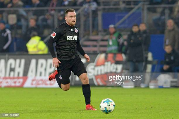 Christian Clemens of Koeln controls the ball during the Bundesliga match between Hamburger SV and 1 FC Koeln at Volksparkstadion on January 20 2018...