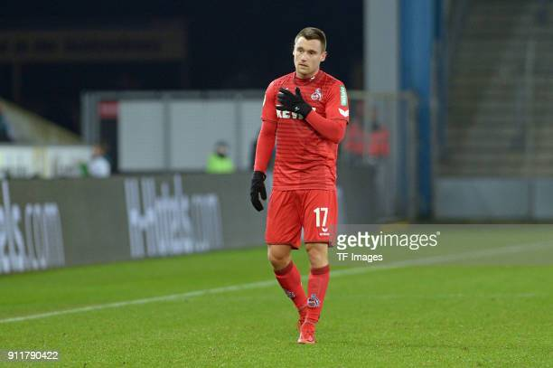 Christian Clemens of Koeln looks on during the HHotelscom Wintercup match between Arminia Bielefeld and 1FC Koeln at SchuecoArena on January 6 2018...